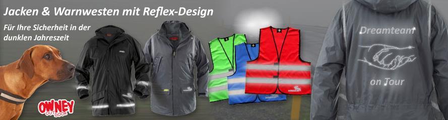 Bekleidung mit Reflex-Design