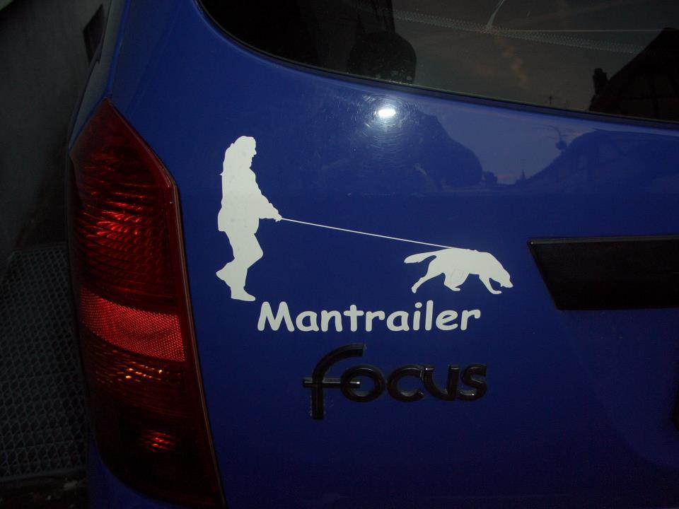 Mantrailer Autoaufkleber Anfalas.de