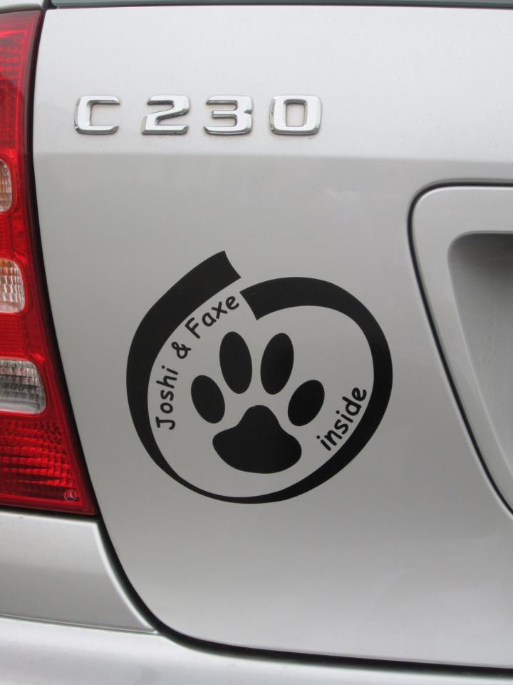 Inside Hund Autoaufkleber Anfalas.de