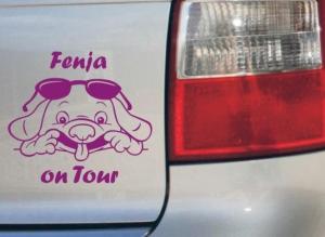 Comic Hundeaufkleber Autoaufkleber Anfalas.de