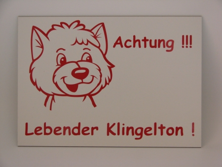 Warnschild Hund Anfalas.de