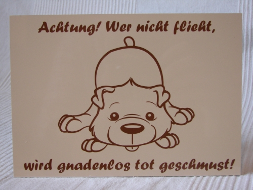 Hundeschild süsser Comic Hund Anfalas.de