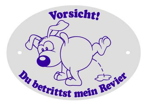 Hundeschild Kunststoff  mein revier Anfalas.de