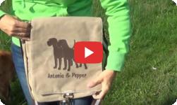 Canvas Tasche für Hundefreunde selbst gestalten Anfalas.de