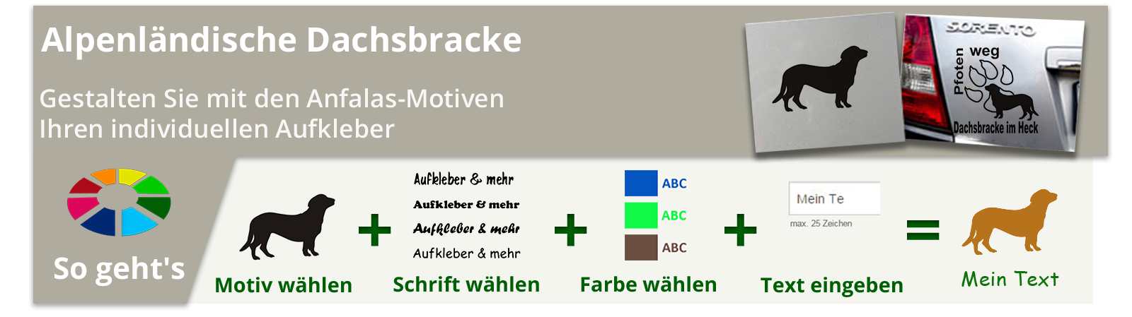 Alpenländische Dachsbracke Aufkleber