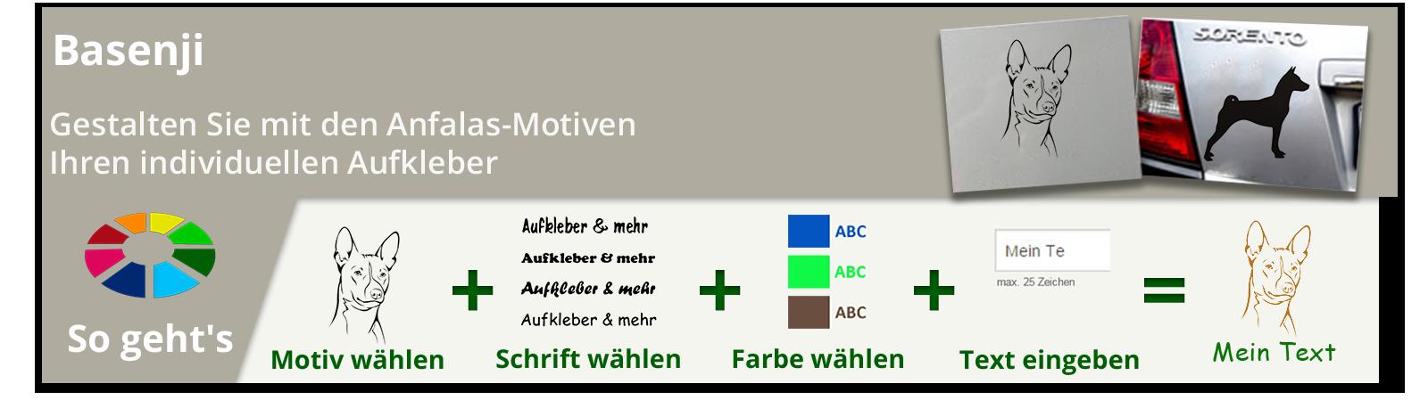 Basenji Aufkleber