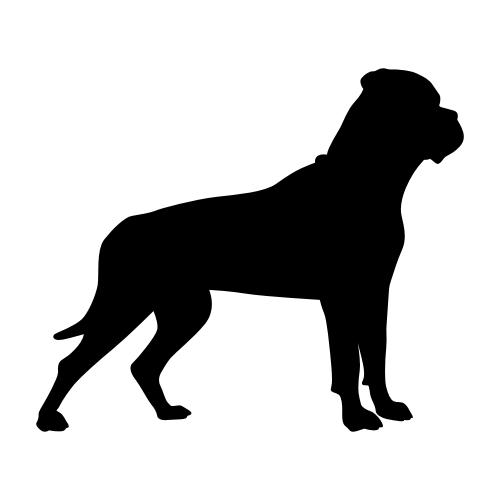 Bullmastiff Wandtattoos