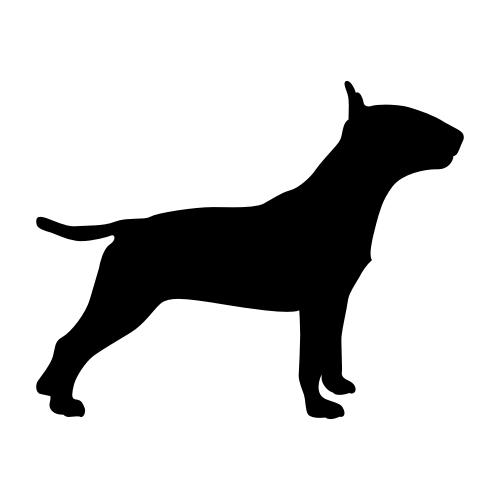 Bullterrier Wandtattoos