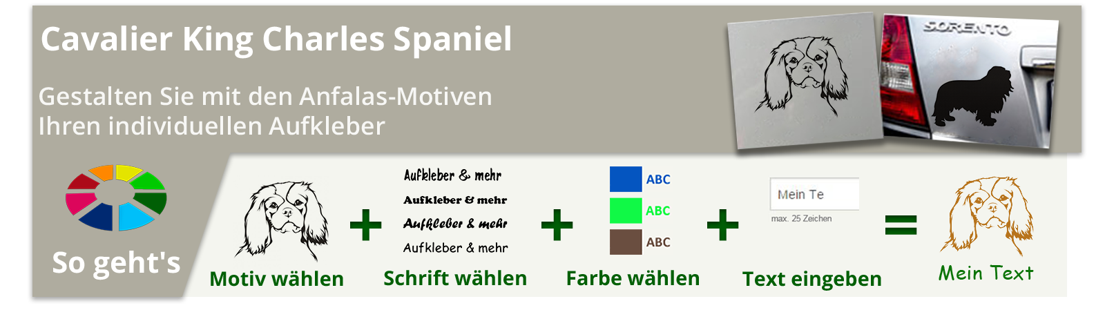 Cavalier King Charles Spaniel Aufkleber