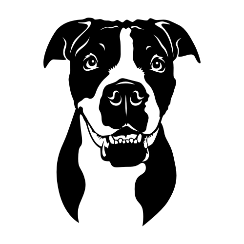 Continental Bulldogge Wandtattoos