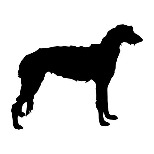 Deerhound Aufkleber
