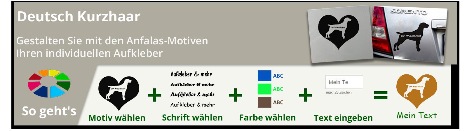 Deutsch Kurzhaar Aufkleber