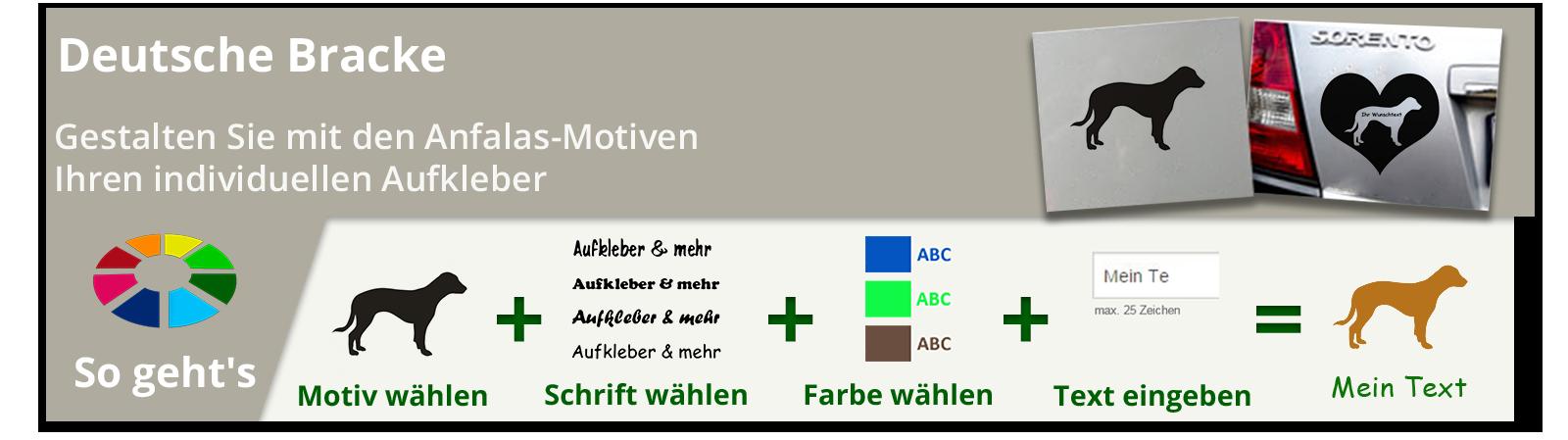 Deutsche Bracke Aufkleber