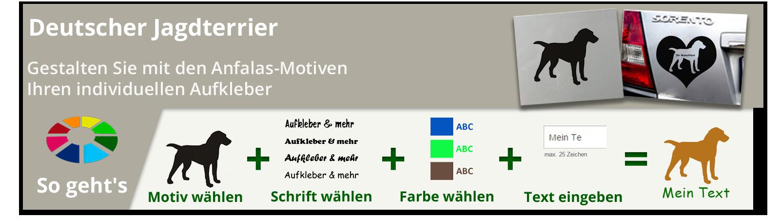 Deutscher Jagdterrier Aufkleber