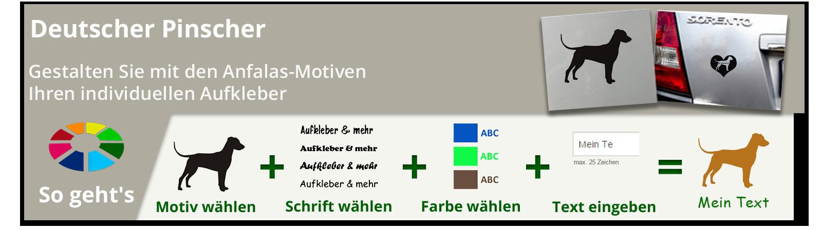Deutscher Pinscher Wandtattoos