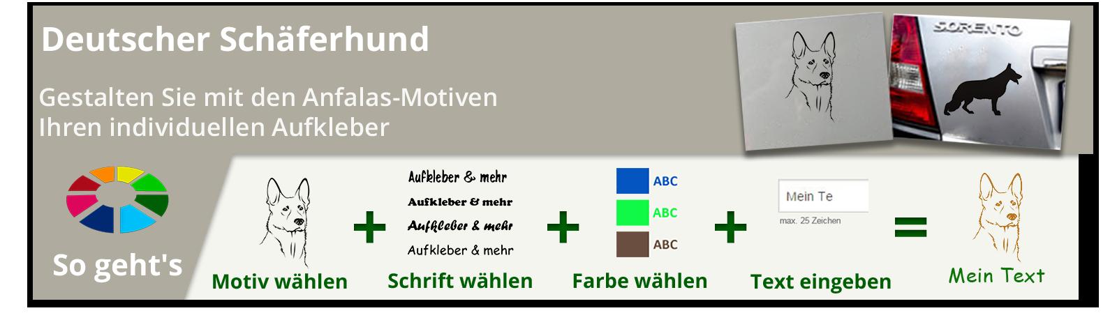 Deutscher Schäferhund Wandtattoos