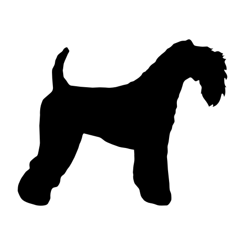 Kerry Blue Terrier Wandtattoos