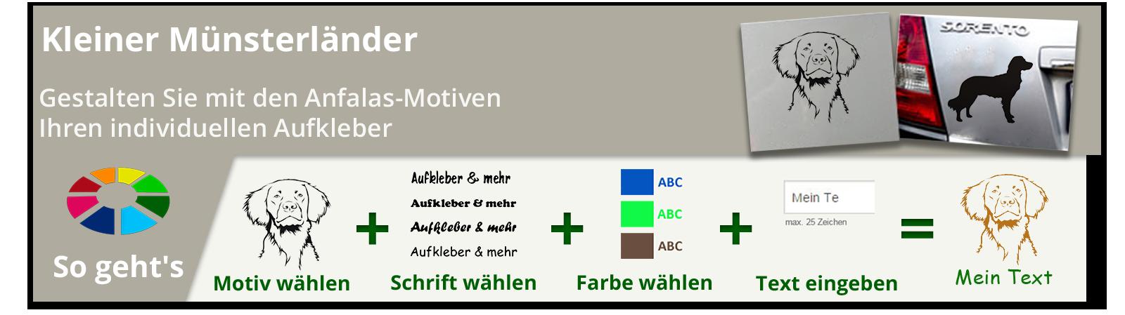 Kleiner Münsterländer Aufkleber