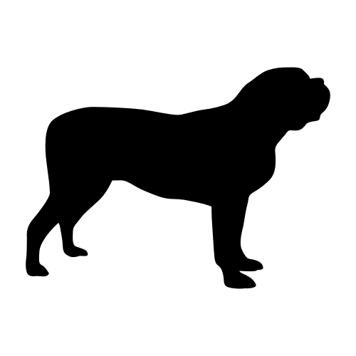 Mastiff Wandtattoos