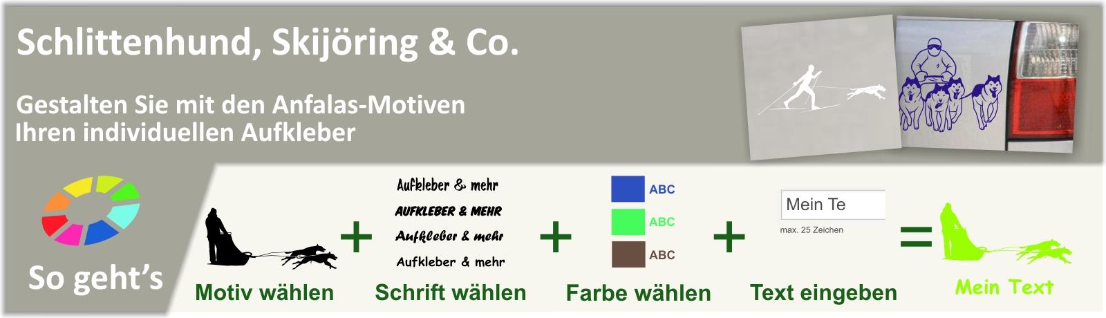 Schlittenhund, Skijöring & Co.