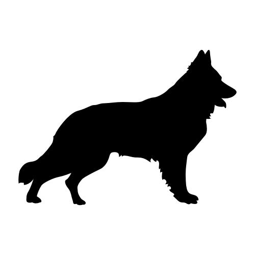 Schweizer Schäferhund Wandtattoos