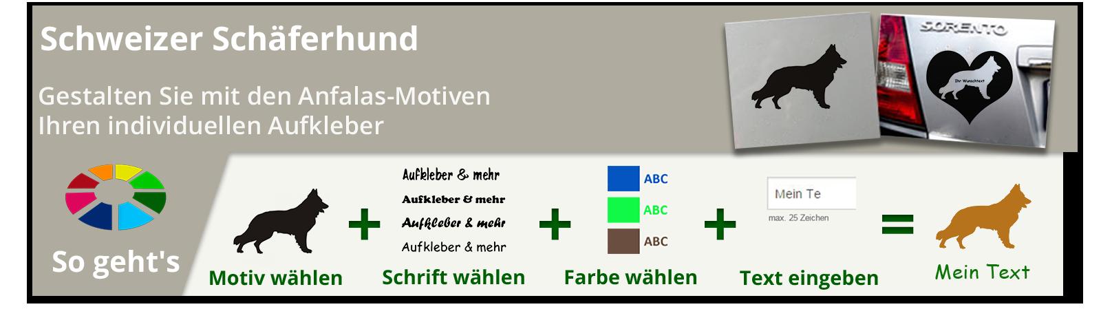 Schweizer Schäferhund Bügelbilder