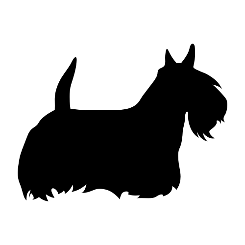 Scottish Terrier Wandtattoos