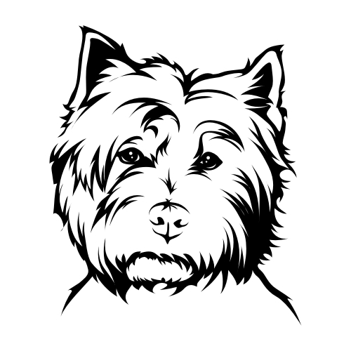 West Highland Terrier Wandtattoos
