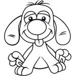 Charaktere Comic Hunde Bügelbild