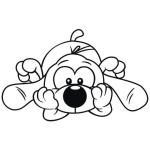 Niedliche Comic Hunde Bügelbilder