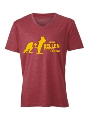 V-Shirt mit Hundemotiv von Anfalas.de 2
