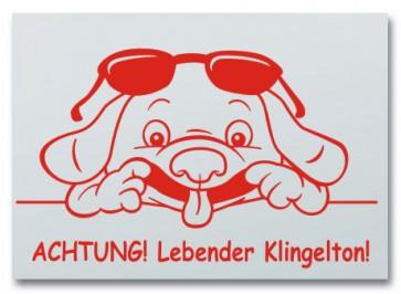 """Hundeschild """"Lebender Klingelton"""""""