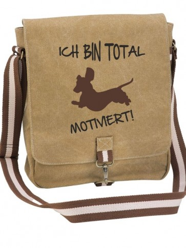"""Canvas-Tasche """"Motiviert"""" von anfalas.de"""