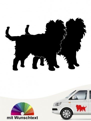 Hunde-Autoaufkleber Affenpinscher 2 von Anfalas.de