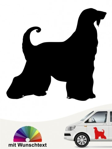 Afghane Autoaufkleber mit Wunschtext von anfalas.de