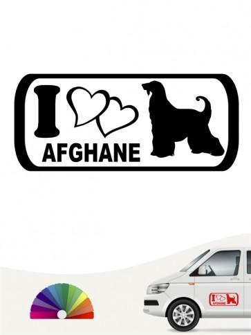 I Love Afghane Hundeaufkleber anfalas.de
