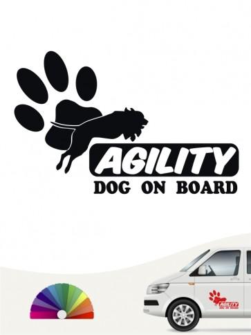 Hunde-Autoaufkleber Agility 3 von Anfalas.de