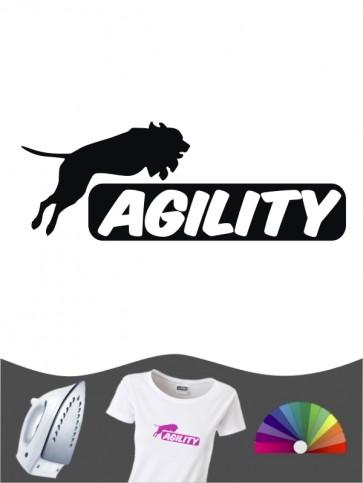 Hunde-Bügelbild Agility 4 von Anfalas.de