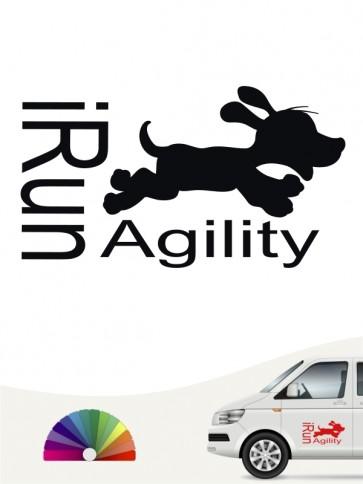 Agility Aufkleber i run von anfals.de