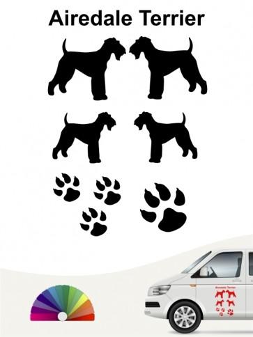 Hunde-Autoaufkleber Airedale Terrier 12 von Anfalas.de