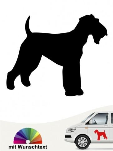 Airedale Terrier Aufkleber mit Wunschtext anfalas.de