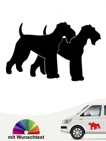 Airedale Terrier doppelte Silhouette mit Wunschtext anfalas.de
