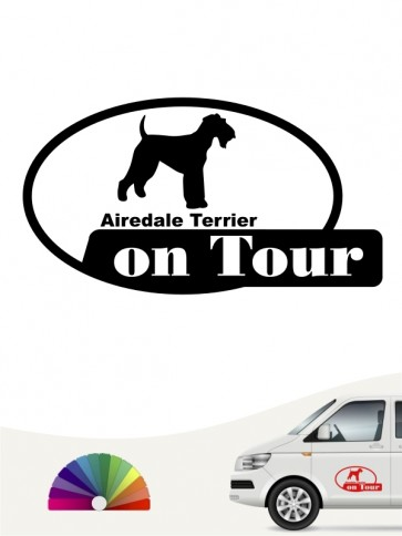 Airedale Terrier on Tour Aufkleber anfalas.de