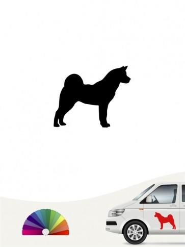 Hunde-Autoaufkleber Akita Inu 1 Mini von Anfalas.de