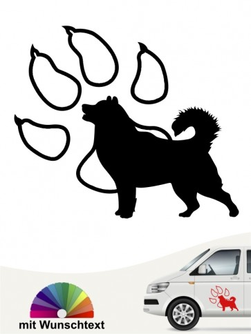Alaskan Malamute Autoaufkleber mit Wunschtext anfalas.de
