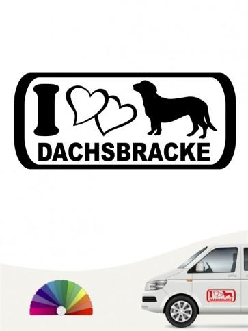 ILove Dachsbracke Autoafkleber anfalas.de
