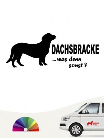 Alpenländische Dachsbracke was denn sonst Autoaufkleber anfalas.de