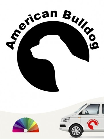 American Bulldog Hundeaufkleber von anfalas.de