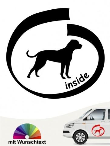 American Bulldog inside Autoaufkleber mit Namen anfalas.de