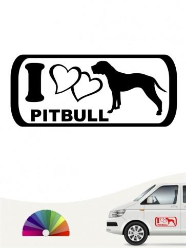 American Pitbull i Love Autoaufkleber von anfalas.de